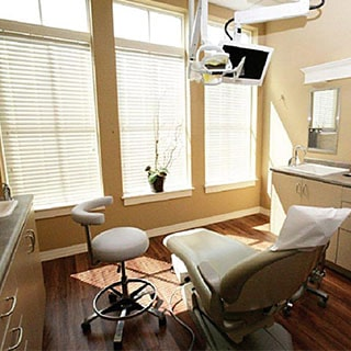 our dental office showing the dentist's chair along with all the dentist's instruments